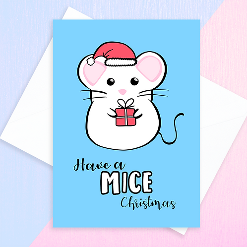 Mouse Christmas Card