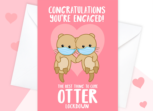 lockdown engagement card, funny 2021 engagement card