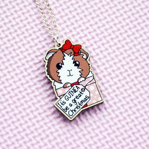 Christmas Guinea Pig Necklace