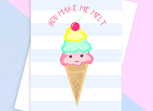 Ice Cream Anniversary Card