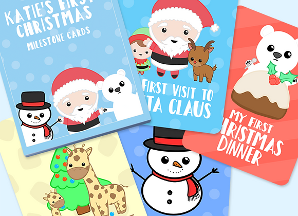 Baby's First Christmas Milestone Cards, Baby's First Christmas Gift