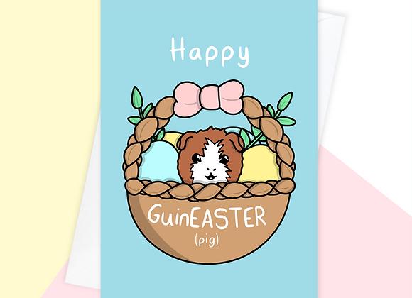 Guinea Pig Easter Card, Easter Card For Guinea Pig Owner