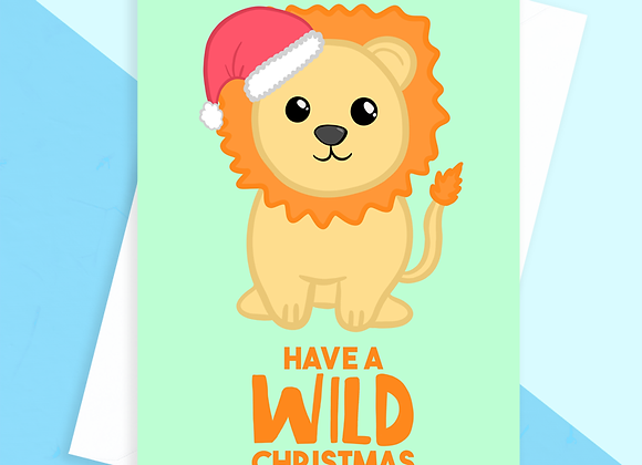 Lion Christmas Card