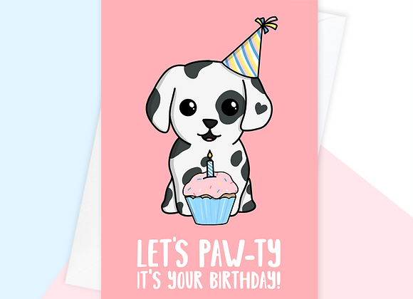 dalmatian birthday card, birthday card for dalmatian mum owner