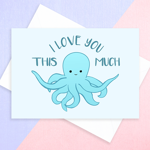 Octopus Anniversary Card