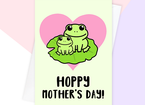frog mothers day card, funny frog mothers day card