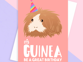 Guinea Pig Birthday Cards & Gifts