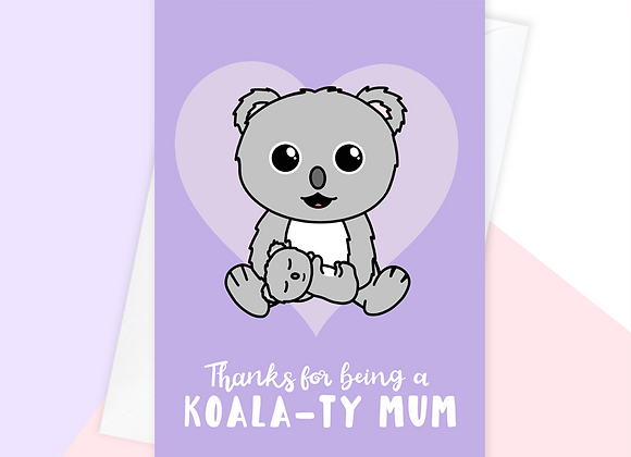 Koala Mother's Day Card From Baby Toddler