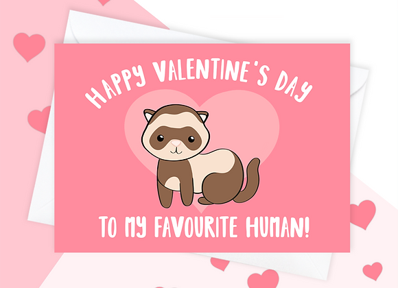 Valentine's Card From The Ferret, Ferret Valentine's card