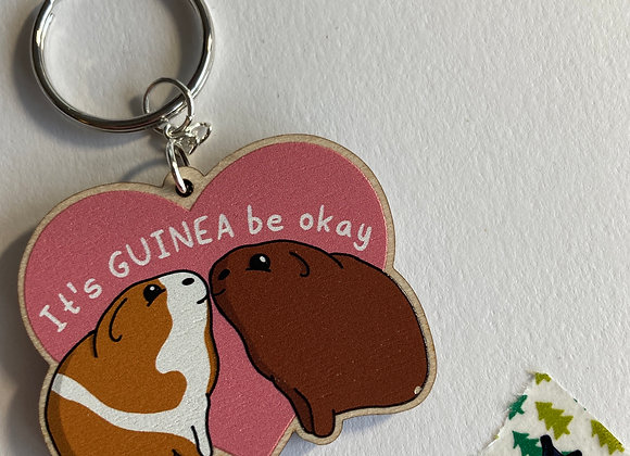 SALE - Slightly Damaged - Guinea Pig Keyring B4