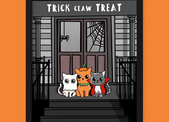 Halloween Cat Print