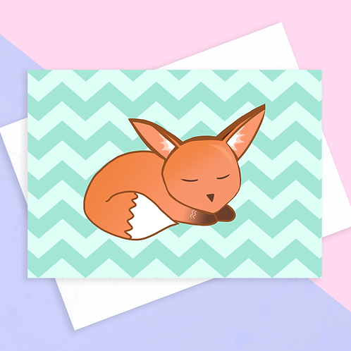 Blank Fox Card