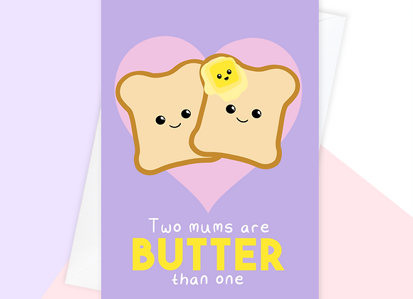 Mothers Day Card For Two Mums, Baby Shower Card For Two Mums