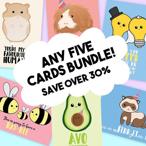 Five Card Bundle