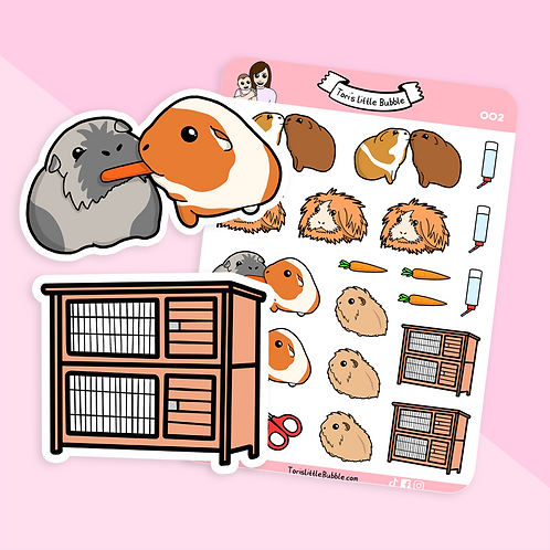 Guinea Pig Care Planner Stickers