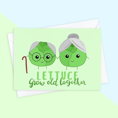 Lettuce Anniversary Card