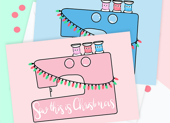 Sewing Christmas Card