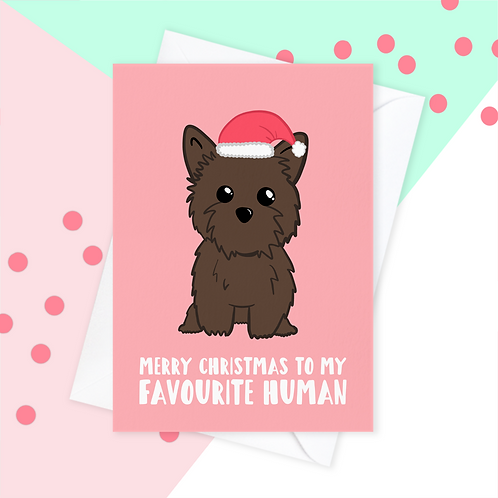 Christmas Card From The Cairn Terrier