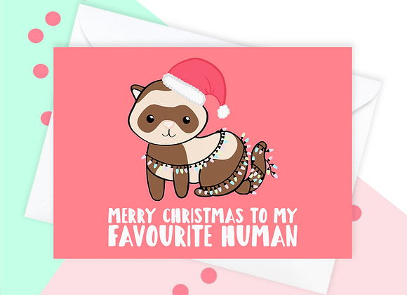 Christmas Card From The Ferret