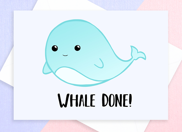 Whale Well Done Card