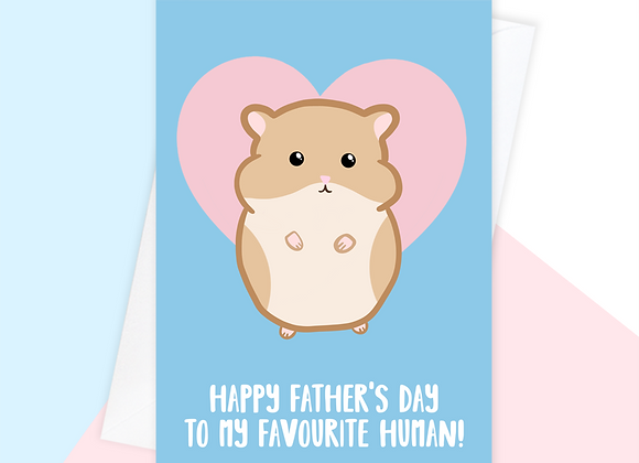 Father's Day Card From The Hamster