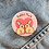 rabbit mum pin badge, christmas gift for rabbit owner