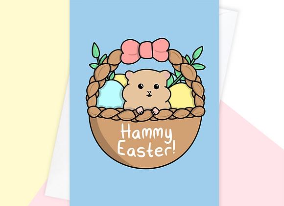 hamster easter card, easter card for hamster owner