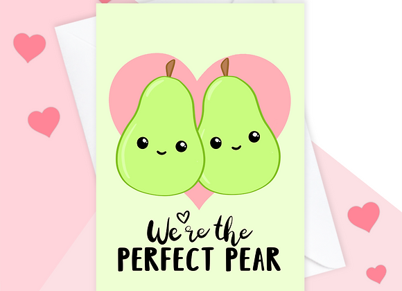 Perfect Pear Valentine's Day Card