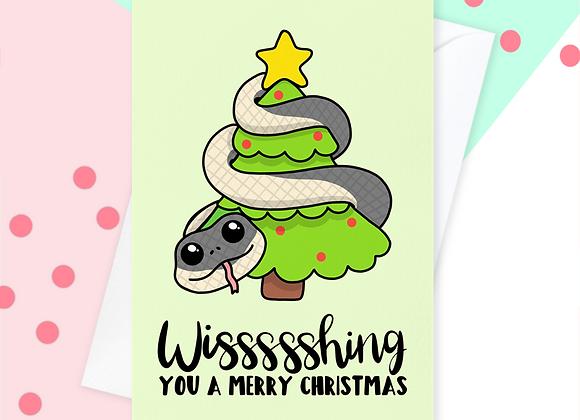 Snake Christmas Card