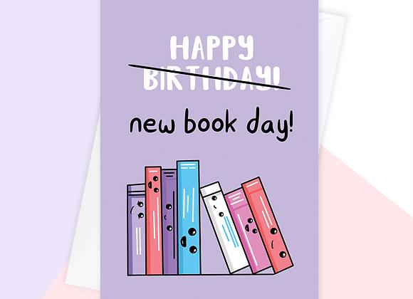 happy birthday book lover card, author writer book birthday card