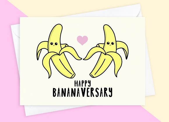 Banana Anniversary Card