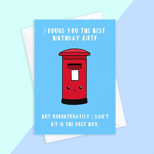 Post Box Birthday Card