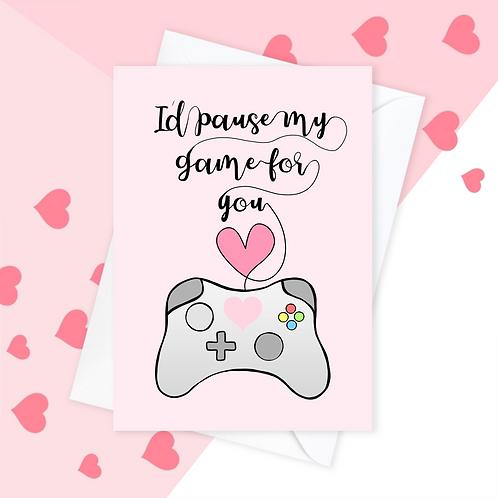 Gaming Anniversary Gamer Valentine's Card