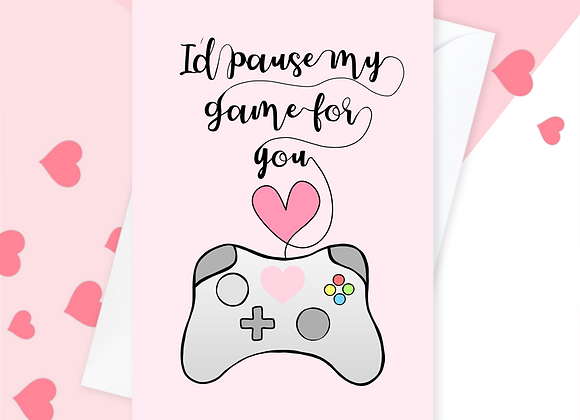 Gaming Anniversary Gamer Valentine's Card