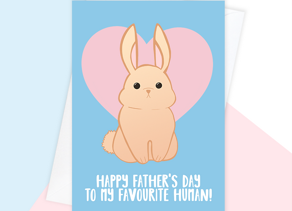 Father's Day Card From The Rabbit
