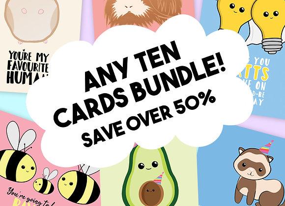 Ten Card Bundle