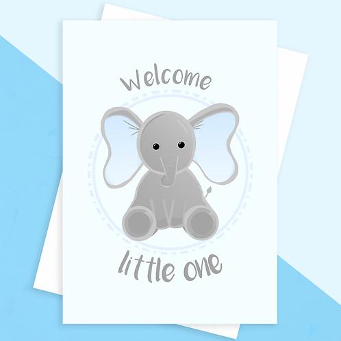Elephant Baby Boy Card