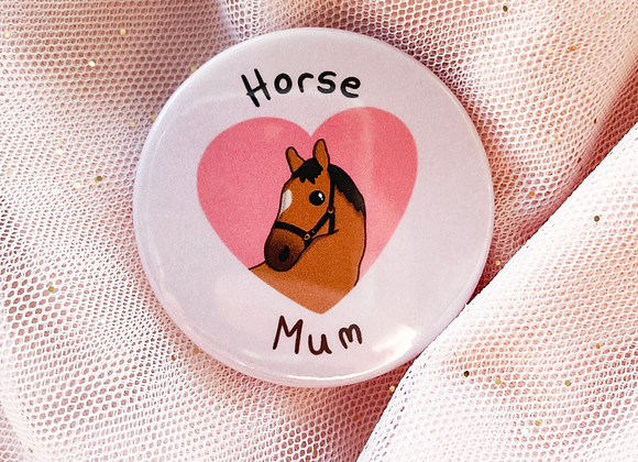 horse owner badge, gift for horse ride