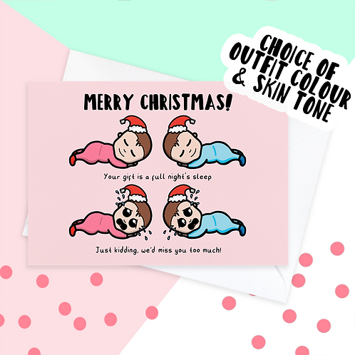 Twins Christmas Card