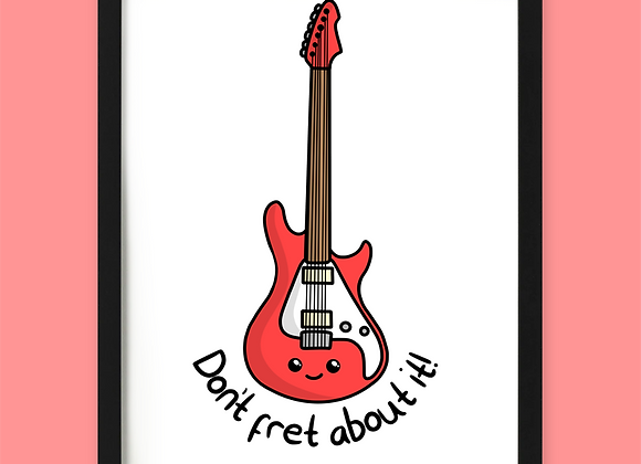 Guitar Motivational Print