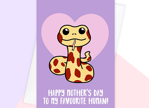 snake mothers day card, mothers day card from the snake