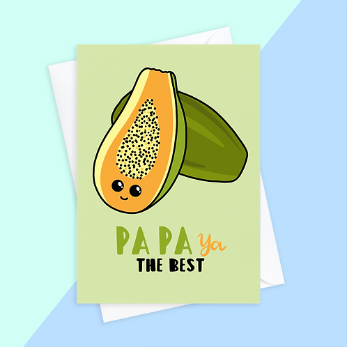 Papa You're The Best Card