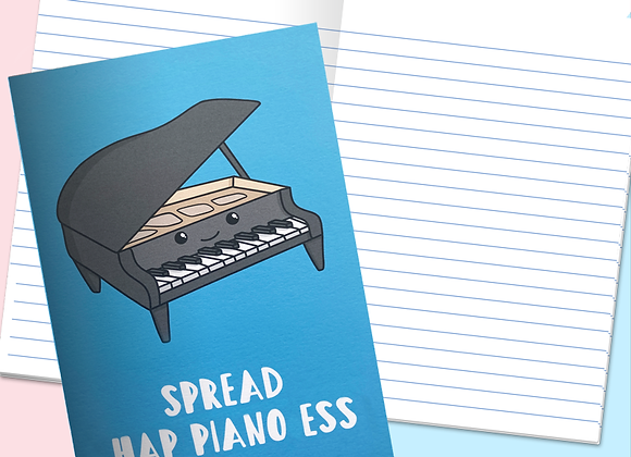 piano positivity notebook, gift for pianist
