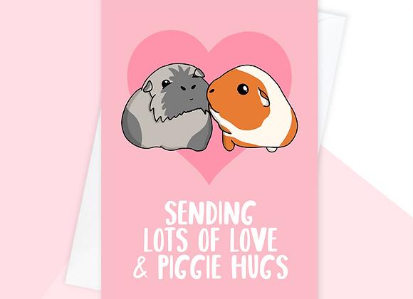 guinea pig feel better soon card, guinea pig sympathy card
