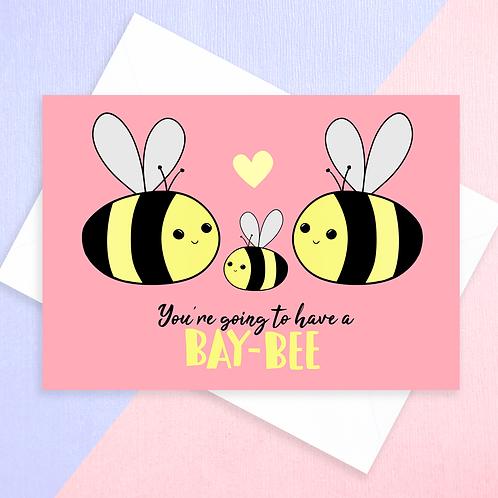 Bee Baby Show Card