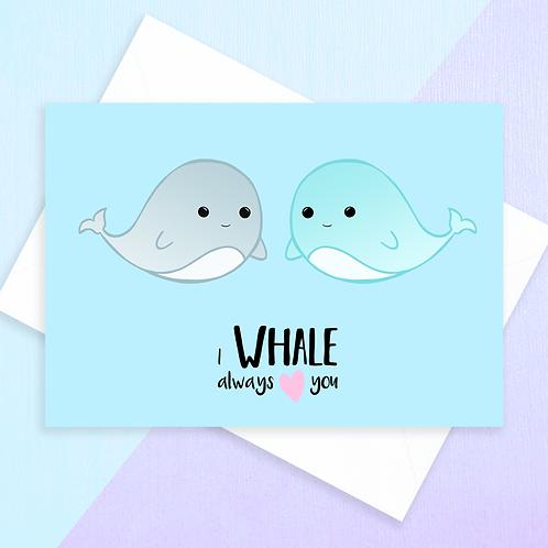 Whale Anniversary Card