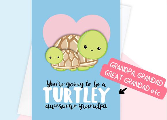 Turtle Grandpa To Be Card