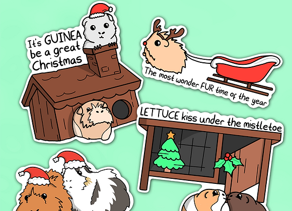 Guinea Pig Christmas Sticker Pack