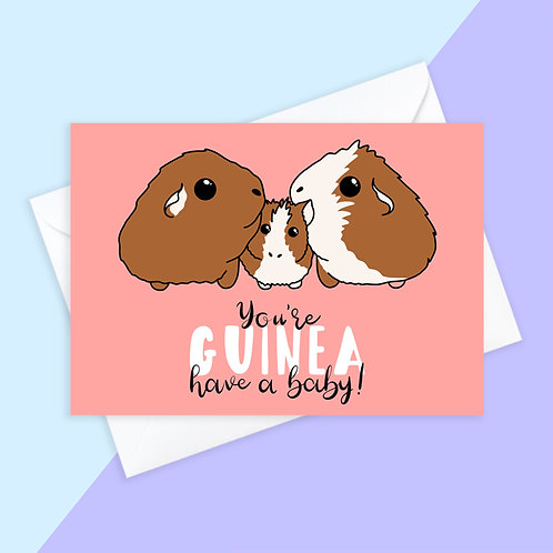 Guinea Pig Baby Card