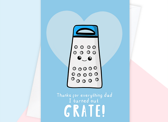 thanks for raising me dad card, funny fathers day card